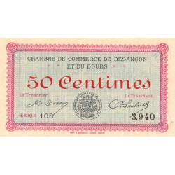Besançon (Doubs) - Pirot 25-1 - 50 centimes - Série 108 - Sans date (1915) - Etat : NEUF