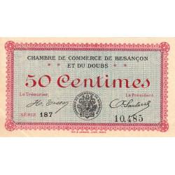 Besançon (Doubs) - Pirot 25-7 - 50 centimes - Série 187 - Sans date (1915) - Etat : SPL