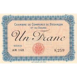Besançon (Doubs) - Pirot 25-13 - 1 franc - Série AR 143 - Sans date (1915) - Etat : SPL+