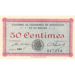 Besançon (Doubs) - Pirot 25-19 - 50 centimes - Série 164 - Sans date (1920) - Etat : SUP