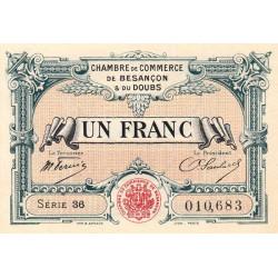 Besançon (Doubs) - Pirot 25-24 - 1 franc - Série 36 - Sans date (1921) - Etat : SPL