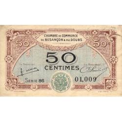 Besançon (Doubs) - Pirot 25-25 - 50 centimes - Série 86 - Sans date (1922) - Etat : TTB+