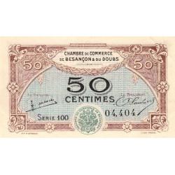 Besançon (Doubs) - Pirot 25-25 - 50 centimes - Série 100 - Sans date (1922) - Etat : SUP+