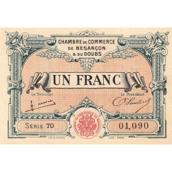Besançon (Doubs) - Pirot 25-27 - 1 franc - Sans date - Etat : SUP