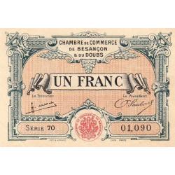 Besançon (Doubs) - Pirot 25-27 - 1 franc - Série 70 - Sans date (1922) - Etat : SUP