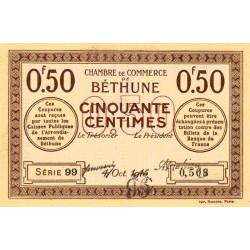 Béthune - Pirot 26-1 - 50 centimes - Série 99 - 04/10/1915 - Etat : SUP+