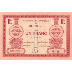 Béthune - Pirot 26-6 - 1 franc - 1915 - Etat : SUP