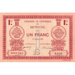 Béthune - Pirot 26-6 - 1 franc - Série 283 - 04/10/1915 - Etat : SUP