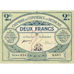 Béthune - Pirot 26-10 - 2 francs - Série 016 - 04/10/1915 - Etat : TTB+