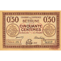 Béthune - Pirot 26-15 - 50 centimes - 1916 - Etat : NEUF