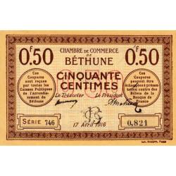 Béthune - Pirot 26-15 - 50 centimes - Série 746 - 17/04/1916 - Etat : SPL