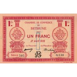 Béthune - Pirot 26-17 - 1 franc - 1916 - Etat : SUP