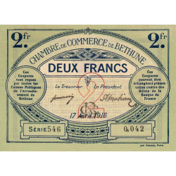 Béthune - Pirot 26-19 - 2 francs - 1916 - Etat : SUP