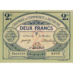 Béthune - Pirot 26-19 - 2 francs - Série 546 - 17/04/1916 - Etat : SUP