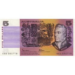 Australie - Pick 44e - 5 dollars - 1985 - Etat : TTB