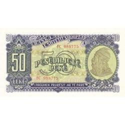 Albanie - Pick 29a - 50 lekë - 1957 - Etat : NEUF
