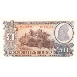 Albanie - Pick 31a - 500 lekë - 1957 - Etat : NEUF