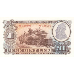 Albanie - Pick 31a - 500 lekë - Série PH - 1957 - Etat : NEUF