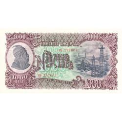 Albanie - Pick 32a - 1'000 lekë - Série TH - 1957 - Etat : NEUF