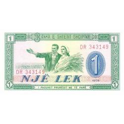 Albanie - Pick 40a - 1 lek - Série DR - 1976 - Etat : NEUF