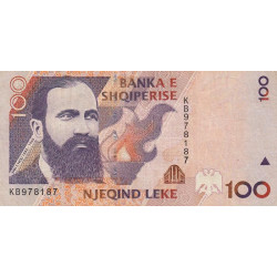 Albanie - Pick 62a - 100 lekë - Série KB - 1996 - Etat : TTB
