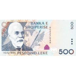 Albanie - Pick 72a - 500 lekë - Série HG - 2007 - Etat : NEUF
