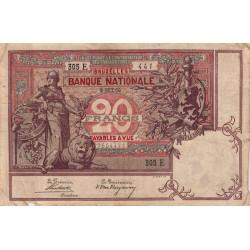 Belgique - Pick 62b - 20 francs - 1900 - Etat : TB+