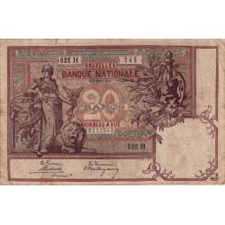 Belgique - Pick 62b - 20 francs - 1903 - Etat : TB+