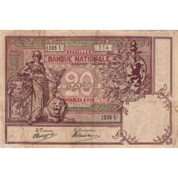 Belgique - Pick 62d - 20 francs - 1907 - Etat : TTB-