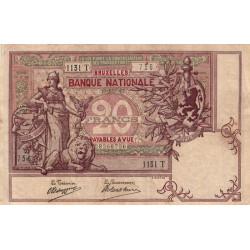 Belgique - Pick 62d - 20 francs - 23/11/1907 - Etat : TTB