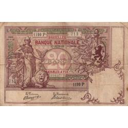 Belgique - Pick 62d - 20 francs - 17/06/1908 - Etat : TB+