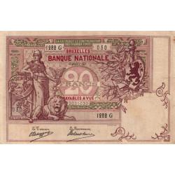 Belgique - Pick 62d - 20 francs - 06/01//1909 - Etat : TTB-