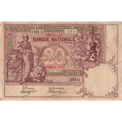 Belgique - Pick 62d - 20 francs - 16/01/1909 - Etat : TTB-