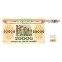 Bielorussie - Pick 13 - 20'000 rublei - 1994 - Etat : NEUF