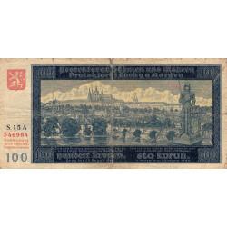 Bohême-Moravie - Pick 6a - 100 korun - 1940 - Etat : B+