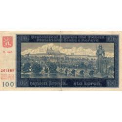 Bohême-Moravie - Pick 7a_1 - 100 korun - 20/08/1940 - Série 35B - Etat : TB+