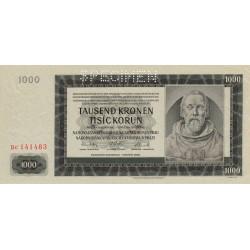 Bohême-Moravie - Pick 14s - 1'000 korun - 24/10/1942 - Série Bc - Spécimen - Etat : SPL
