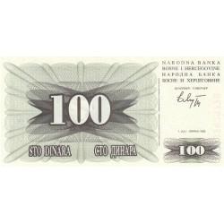 Bosnie Herzegovine - Pick 13 - 100 dinara - 1992 - Etat : NEUF