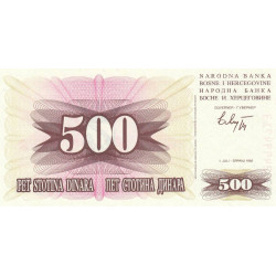Bosnie Herzegovine - Pick 14 - 500 dinara - 01/07/1992 - Etat : NEUF