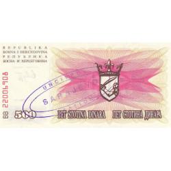 Bosnie Herzegovine - Pick 14 variété - 500 dinara - 01/07/1992 - Etat : NEUF