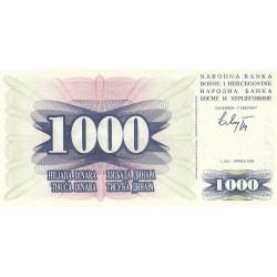 Bosnie Herzegovine - Pick 15 - 1'000 dinara - 01/07/1992 - Etat : NEUF