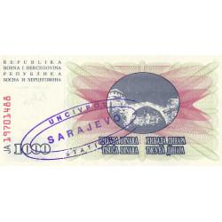 Bosnie Herzegovine - Pick 15 variété - 1'000 dinara - 01/07/1992 - Etat : NEUF