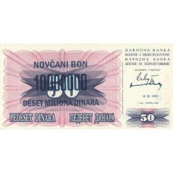 Bosnie Herzegovine - Pick 36 - 10'000'000 dinara sur 50 dinara - 10/11/1993 - Etat : NEUF