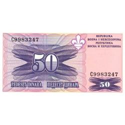 Bosnie Herzegovine - Pick 47 - 50 dinara - 1995 - Etat : NEUF