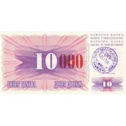 Bosnie Herzegovine - Pick 53h - 10'000 dinara sur 10 dinara - 24/12/1993 - Etat : NEUF