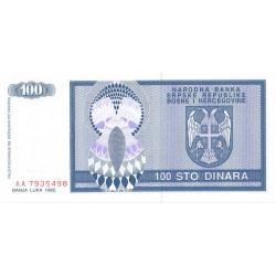 Bosnie Herzegovine - Pick 135 - 100 dinara - 1992 - Etat : NEUF