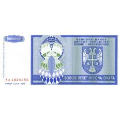 Bosnie Herzegovine - Pick 144 - 10'000'000 dinara - 1993 - Etat : NEUF