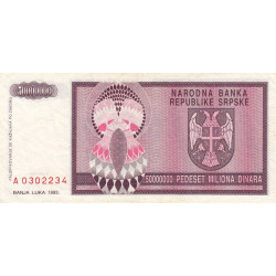 Bosnie Herzegovine - Pick 145 - 50'000'000 dinara - 1994 - Etat : TTB+