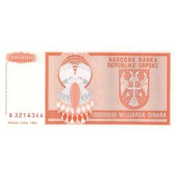 Bosnie Herzegovine - Pick 147 - 1'000'000'000 dinara - 1993 - Etat : NEUF