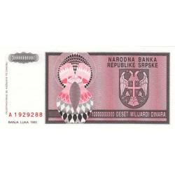 Bosnie Herzegovine - Pick 148 - 10'000'000'000 dinara - 1993 - Etat : NEUF